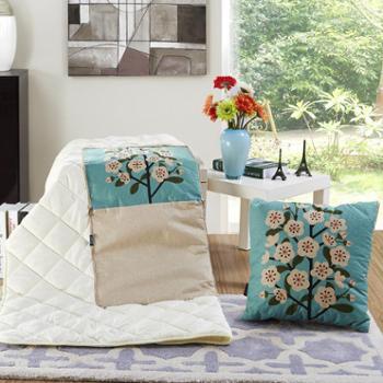 泽盟抱枕被两用多功能办公室午睡枕汽车靠垫折叠空调被