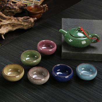 冰裂陶瓷功夫茶具套装特价铁观音红茶泡茶器茶壶茶杯办公整套礼品