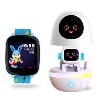 小魔蛋人工智能AI4G电话教育学习机器人 智能电话手表+智能学习陪伴机器人 二合一智能早教玩具 同步小学教材 国学科学常识 外语翻译对话