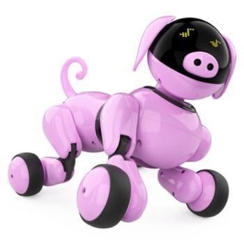 TBZ可琪AI智能仿生机器猪 可视化智能编程宠物玩具 儿童成人智能电动礼物蓝牙音响 Ai人声互动 遥控电动语音对话互动早教编程