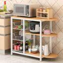 厨房置物架落地多层收纳架子烤箱架子微波炉置物架储物架碗架柜子