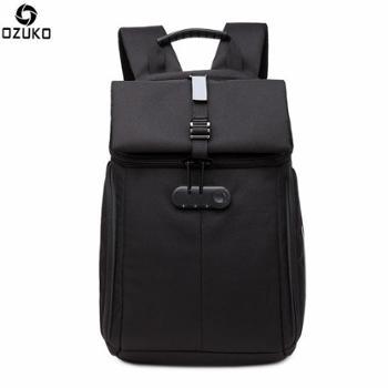 ozuko新款牛津布背包男创意时尚双肩电脑包韩版休闲学生防盗背包