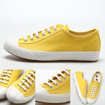 2018新款透气情侣低帮复古帆布鞋日本久留米工艺硫化鞋黄色板鞋学生鞋