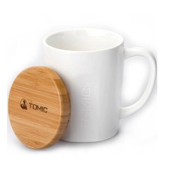 特美刻(TOMIC)马克杯 咖啡杯子情侣陶瓷杯懒人大容量牛饮水杯茶杯 1BPM1317 白色 520ML