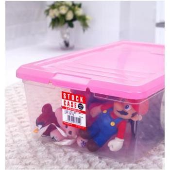 爱丽思IRIS 塑料透明收纳整理箱 小杂物长方形玩具收纳盒小号