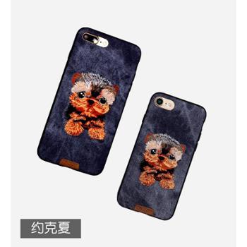 NIMMY你米刺绣iPhone手机壳苹果10挂绳立体萌宠十情侣皮质全包套
