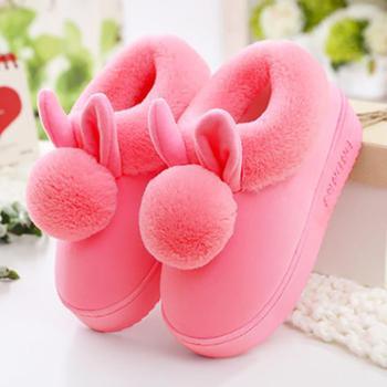 棉拖鞋女冬可爱包跟保暖居家厚底室内月子鞋产后拖鞋冬季