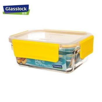 GlassLock进口玻璃饭盒可拆卸盖-700ml-黄色