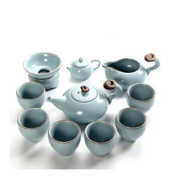汝窑茶具套装功夫茶具汝瓷开片整套茶壶礼品茶组