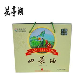 安徽太湖特产山茶油 花亭湖纯正茶油 野生茶籽油 低温物理压榨植物油 礼盒500ml*2