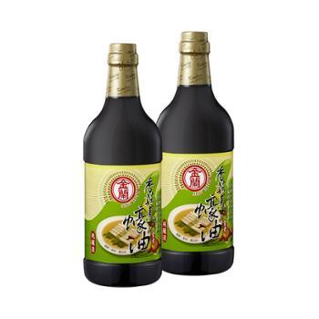 中国台湾 金兰素蚝油厨房调味品 2瓶售 1000ml*2