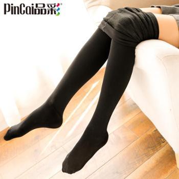 品彩丝袜女秋冬款加厚加绒肉色连裤袜保暖显瘦打底裤光腿肤色连脚