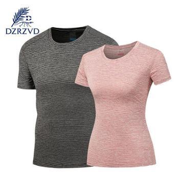 新款情侣速干t恤男吸湿排汗户外弹力短袖T恤女阳离子T恤女装