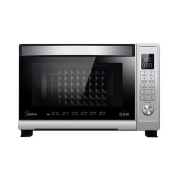 美的(Midea)T7-L328E多功能家用电烤箱智能菜单搪瓷内胆专业烘焙上下独立控温32L