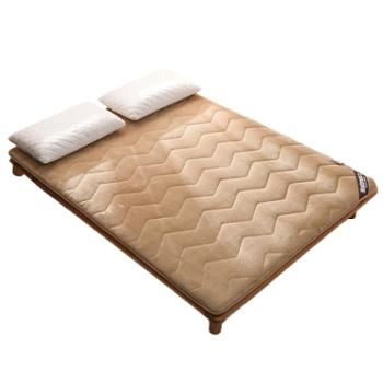 极云加厚波浪绒床垫榻榻米垫被学生宿舍单人双人1.5m1.8米床垫褥子