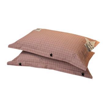 极云 (polarcloud)全棉磨毛加厚枕头套 一对装(不含枕芯)
