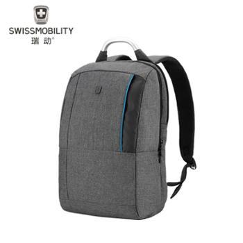 瑞动/SWISSMOBILITYMT-5960-14T00休闲时尚双色麻布商务电脑背包灰色