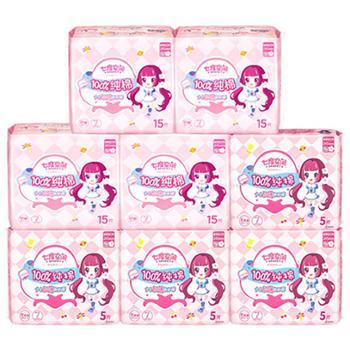 七度空间卫生巾女日用245mm纯棉超薄姨妈巾80片纯棉超薄周期护理