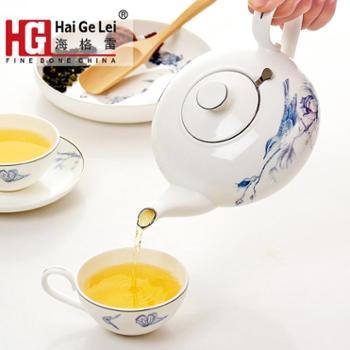 唐山海格雷正品骨瓷茶具套装整套家用陶瓷茶杯中式功夫茶送礼礼盒