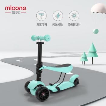曼龙男女宝宝1-2-3-6岁可坐闪光溜溜车踏板车两用三轮儿童滑板车