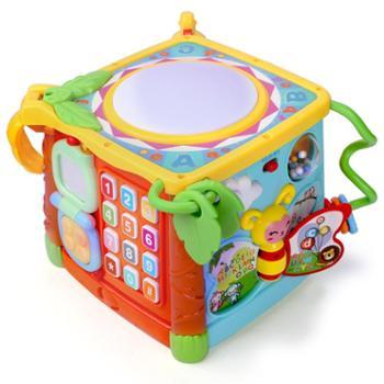谷雨六面体儿童早教益智音乐拍拍鼓宝宝手拍鼓婴儿玩具3839A