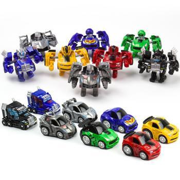 包邮变形玩具金刚Q版迷你小车迷你变形汽车人口袋玩具