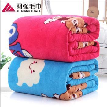 图强床上用品床单700g法兰绒印花盖毯涤纶毛毯180*200cm