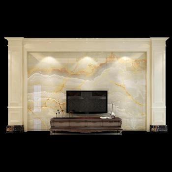 瓷砖背景墙欧式微晶石3d客厅电视背景墙瓷砖仿大理石护墙板罗马柱
