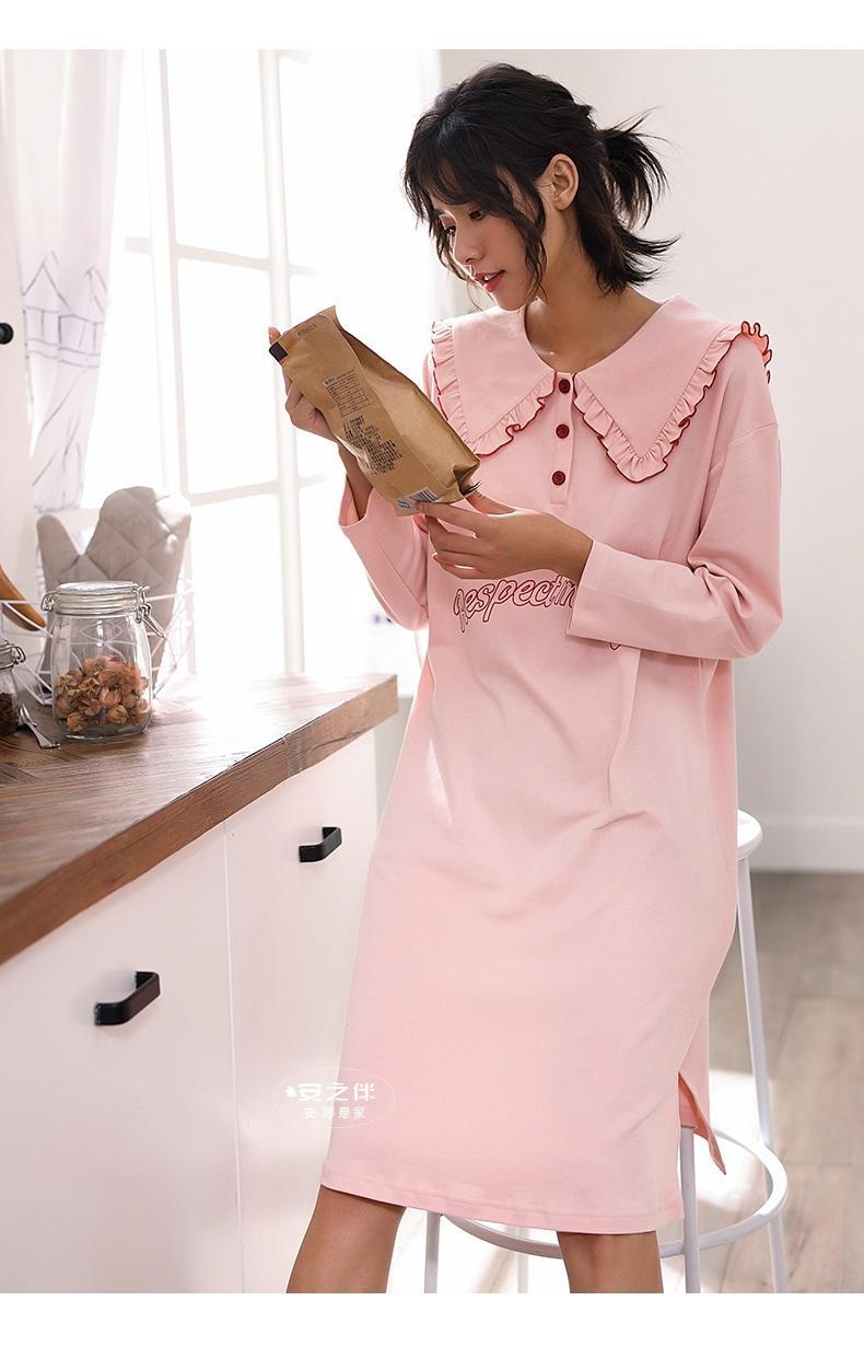 可爱个性纯棉睡裙图片