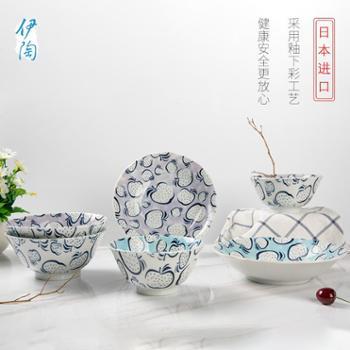 日本进口伊陶 釉下彩陶瓷碗餐具 家用日式碗米饭碗面碗汤碗/个