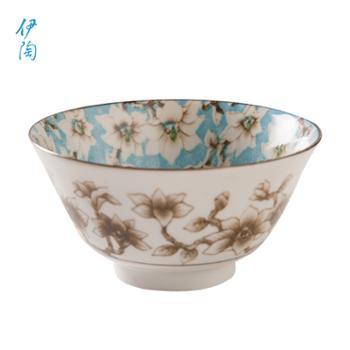 伊陶日式碗餐具饭碗汤家用木莲釉下彩5.5英寸碗/个