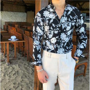 男装休闲长袖衬衫