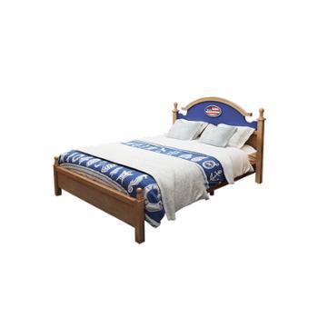 全实木儿童男孩王子床青少年1.2单双人储物1.5米卧室套装组合家具