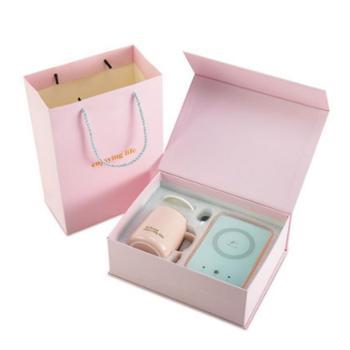 英格码加热器含杯子精美礼盒装俏丽粉