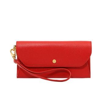 迪桑娜女包时尚气质牛皮手拿包 女钱包多卡位钱夹信封包手机包