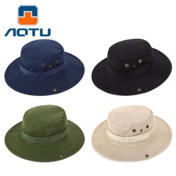 凹凸迷彩帽 野营登山帽户外帽子 钓鱼遮阳渔夫帽