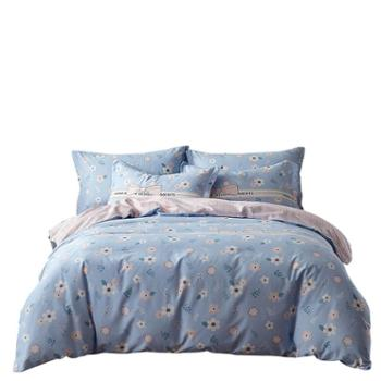 美罗家纺 全棉印花四件套 床单被套枕套四件套