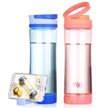 富光随手杯创意太空杯便携塑料水杯时尚手机支架杯子600ml