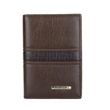 啄木鸟PLOVER头层牛皮商务卡包棕色名片包卡片包钥匙包零钱包男包GD5206-B