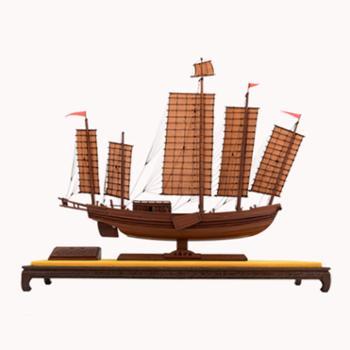 中国航海博物馆工艺船模收藏礼品一帆风顺沙船