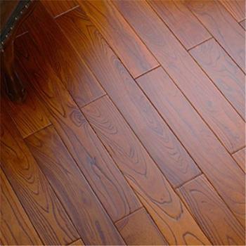 卧室家用木地板 榆木纯实木地板 免龙骨 木蜡油地热地暖锁扣实木地板 910X153X18mm