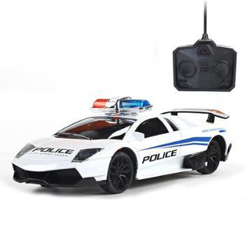 宜乐玩具遥控车无线rc灯光充电警车