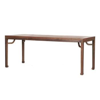 茶桌椅组合黑胡桃实木家具茶艺功夫茶道老榆木禅意茶室茶台