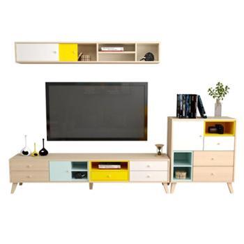 电视柜组合墙现代简约小户型客厅家具套装迷你北欧茶几电视柜地柜