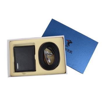 啄木鸟皮带09AK10耐磨材料/钱夹5892-6AC头层牛皮