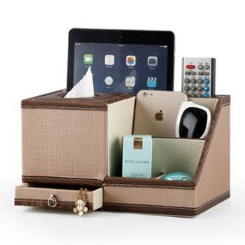皮革纸巾筒创意欧式卷纸筒可爱抽纸盒客厅桌面遥控器收纳纸巾盒
