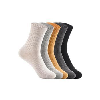 网易严选 3双/5双装 女式日系罗纹中筒袜