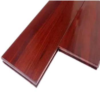 伐木时光 番龙眼纯实木仿古深色地板