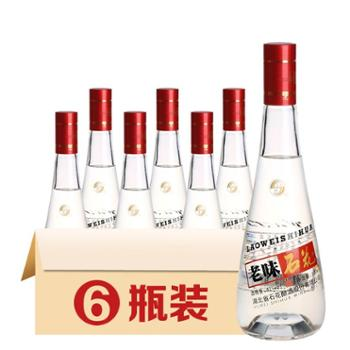 石花 老味42度浓香型低度白酒光瓶小酒整箱500ml*6瓶