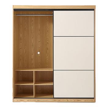 希尚衣柜北欧简约大容量推拉门衣柜